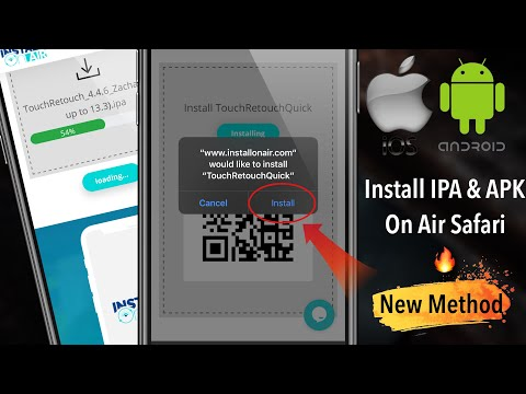 Install IPA & APK On Air Safari In IOS 13 | How To Install IPA & APK In Safari ( IOS & Android )