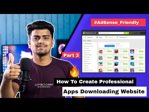 How To Create Professional App Downloading Website | APK Download Website like Playstore APKpure P3