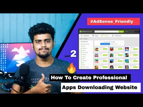 How To Create Professional App Downloading Website | APK Download Website like Playstore APKpure P2